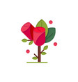 flower love heart wedding flat color icon icon vector image