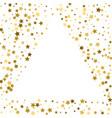 gold frame or border of random scatter golden vector image vector image