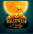 halloween festival party background vector image vector image