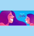 happy mother day spanish banner of girl and mom vector image vector image