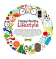 Healthy and active lifestyle card vector image vector image