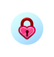 heart lock flat design style vector image vector image