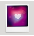 heart sign on polaroid frame - abstract car vector image vector image