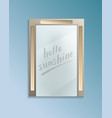 hello sunshine concept with bathroom misted mirror vector image