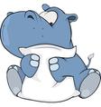 hippopotamus vector image vector image