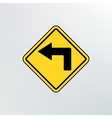 left turn ahead icon vector image vector image