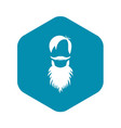 male avatar with beard icon simple style vector image vector image