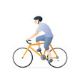 man riding a bicycle vector image vector image