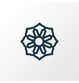 mandala icon line symbol premium quality isolated vector image