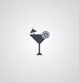 martini cocktail glass logotype vector image