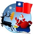 Merry Christmas Taiwan vector image