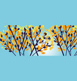 modern elegant autumn tree branches silhouette vector image