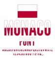 Monaco Flag Font vector image vector image