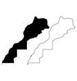 morocco and western sahara map vector image