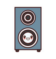 music speaker device kawaii cartoon vector image vector image