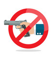 no gun weapon sign vector image vector image