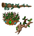 old branches of dead-wood decorated with precious vector image vector image