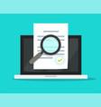 online compliance document inspection statement vector image vector image