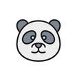 panda chinese traditional animal flat vector image vector image
