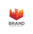 phoenix modern geometric logo concept vector image vector image