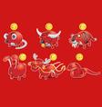 piggy bank chinese zodiac vector image