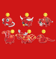 piggy bank of chinese zodiac vector image vector image