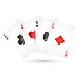playing cards aces vector image vector image