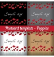 Poppies Set of templates for postcards Floral vector image
