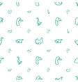 poultry icons pattern seamless white background vector image vector image