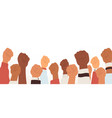 raised up fists different skin color power vector image
