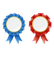 red and blue rosettes vector image vector image
