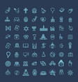 religion icons set thin style vector image vector image