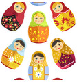 russian nesting doll traditional wooden souvenir vector image