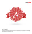scholarship stamp icon - red ribbon banner vector image