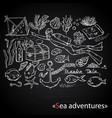 sea adventures scuba diver on chalk vector image