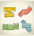 set of flat labels paper tags promotion ribbons vector image