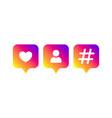 social media modern like follower hashtag vector image vector image