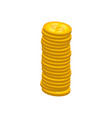 stack of golden shiny coins vector image