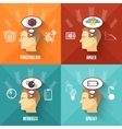 Stress concept 4 flat icons square vector image vector image