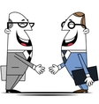 Two businessman vector image vector image
