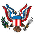 usa eagle great seal in color vector image vector image