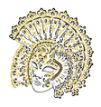 venetian carnival mask vector image vector image
