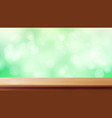 wood table top blur spring green vector image vector image