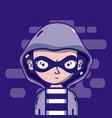 young hacker male vector image