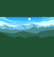 mountains and hills landscape vector image