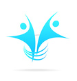 logo successful people vector image
