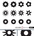Gear Icons Design Elements Logo Elements Set 2 vector image
