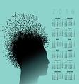 2016 Cal Music Notes man vector image vector image
