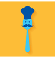 A chef made by spoon stock vector image vector image