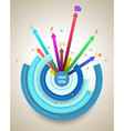 Abstract business info graphics circle and arrows vector image